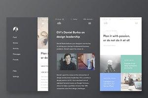 Design Blog (Mobile) - Sketch
