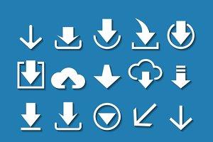 Download arrow icon set