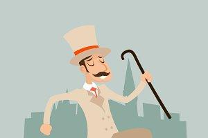 Victorian Running Gentleman