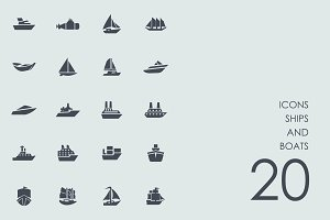 Ships and boats icons