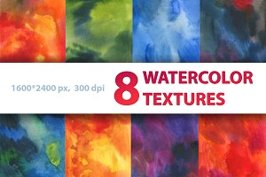 8 WATERCOLOR RASTER TEXTURES
