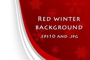 Red abstract winter background