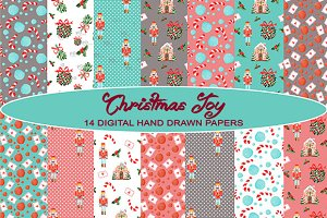 Christmas Background, Pattern, Paper