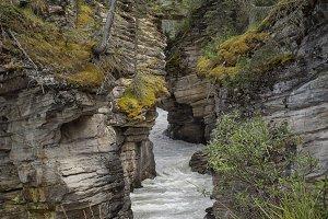 Waterfall in Maligne Canyon