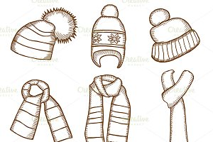 Winter clothes. Santa stocking cap