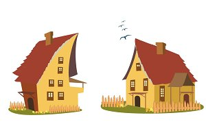 Set of vector illustration of house