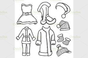 doodle costumes Santa Claus