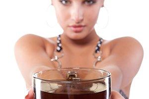 fresh tasty black tea
