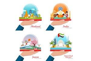 Japan, Thailand, India, UAE
