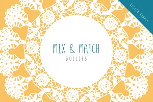 Doilies - Vector Mix & Match Set