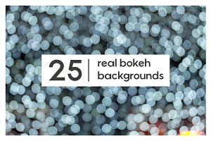 25 Real Bokeh Backgrounds / Overlays