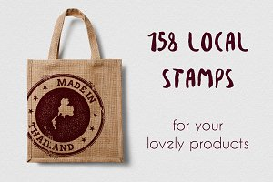 50% Off. 158 'Made In' stamps