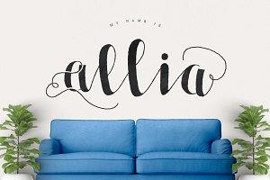 Allia Typeface