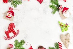 Christmas frame decoration JPG