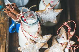 Milk and Christmas cookies for Santa