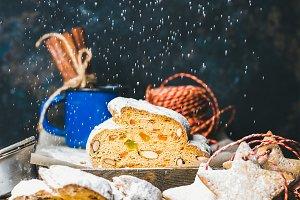 German Christmas cake Stollen