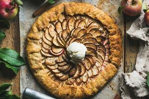 Homemade apple crostata