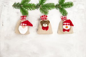 Gift bags Christmas decoration