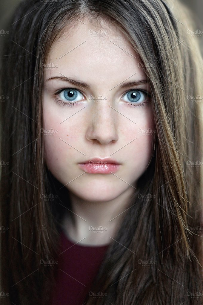 Beautiful young woman people photos on creative market for Teenage beautiful girls