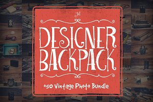 The Designer Backpack Photo Bundle