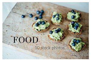 Food photography Blue stock photos