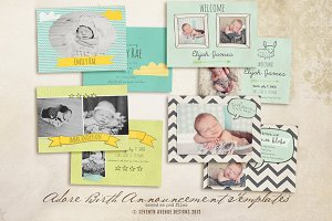 Adore Birth Announcement Cards