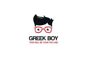 Greek boy Logo