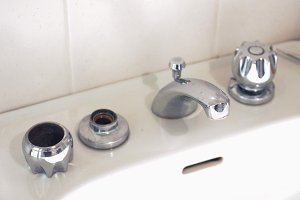 Bathroom tap repair
