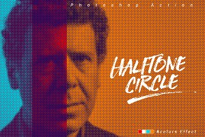 Halftone Circle Effect