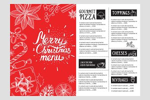 Christmas restaurant template