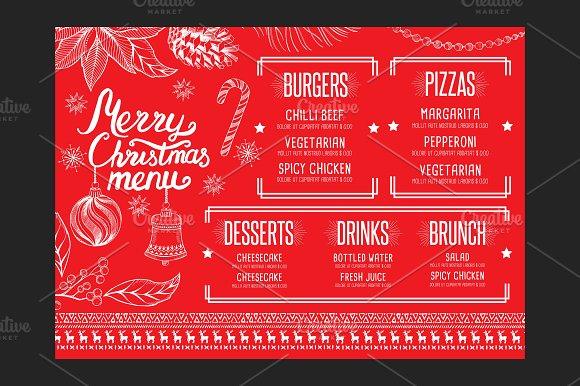 Christmas restaurant template