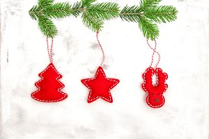 Christmas decoration red ornaments