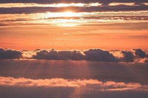 Sunset Sky over clouds Landscape
