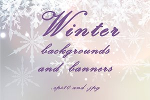 Winter backgrounds and banners
