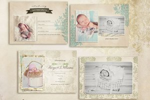 Simply Birth Announcement Cards