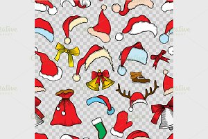 Christmas seamless vector pattern