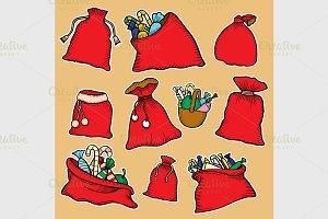 Canvas sack vector