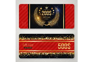 Red and gold gift card