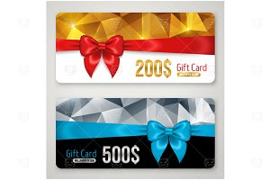 Gift cards with polygonal pattern