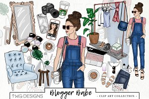 Fashion Girl Blogger Clip Art