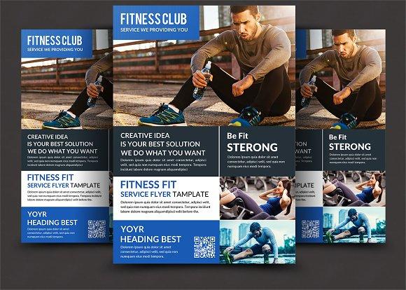 fitness flyer gym flyer flyer templates creative market