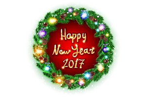 Vector Christmas happy new year