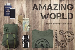 Amazing World - 167 travel stamps