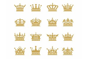 Crown gold icons