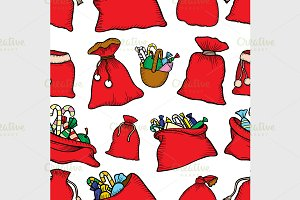 Seamless vector Christmas pattern.