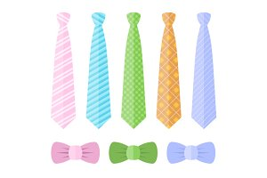 Set of Ties and Bow Ties