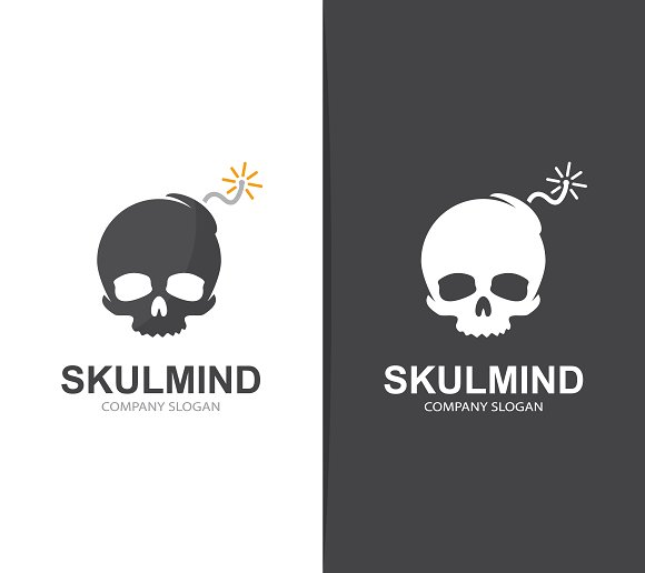 Skull and bomb logo combination in Logo Templates - product preview 3
