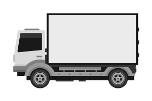 Delivery Truck with Blank Billboard
