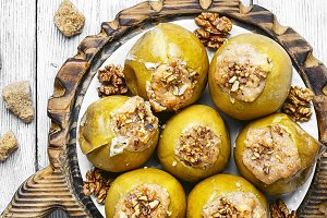 baked apples stuffed nuts