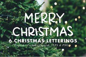 Christmas Letterings - EN, FR & ES